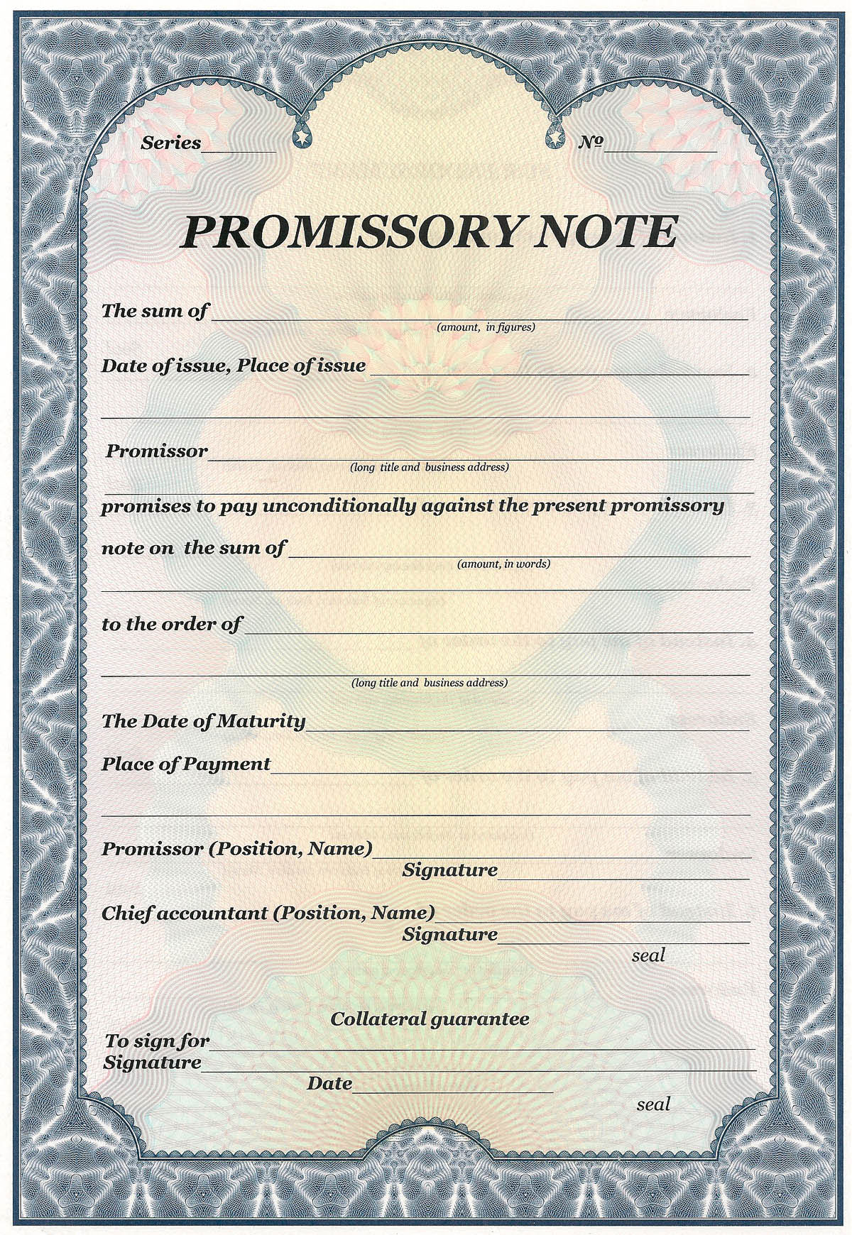 promissory note Protect yourself when lending money with a promissory note print and download your personalized contract for free quick and simple.
